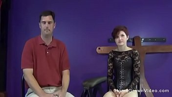 Tiny redhead pegging an older guy with a big strapon toy