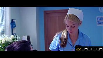 Lesbian nurses use injured girl