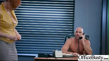 (Lauren Phillips) Busty Girl In Hard Style Sex In Office clip-24