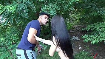 Naughty Whore Pays a Ticket with Sex