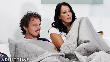 Stepmom Gives Sneaky Handjob Under Blanket