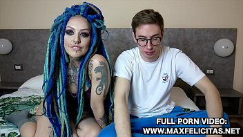 LADY BLUE ITALIAN GIRL WITH RASTA FUCKS VERY HARD WITH MAX FELICITAS AND DRINK ALL HIS SPERM LIKE IT WAS MILK