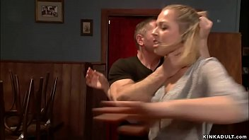 When a state inspector hot blonde gives a bar owner a surprises inspection he puts her in bondage and rough bangs her