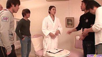 Hot japan girl Ann Yabuki sledgehammer performance of severe group sex