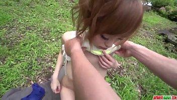 Hot japan girl Mikuru Shiina fuck in public