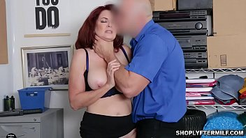 LP Officer baning Andi James milfy pussy in every angle of the office as her punishmnet