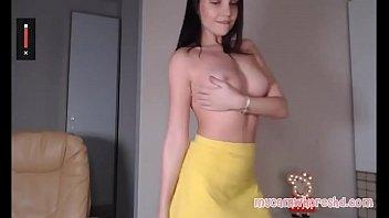 Sexy Camgirl Stripping and Masturbating