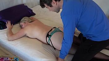 Stepmom gets a full body rub from her stepson