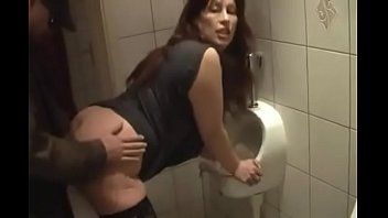 German Milf get good Fuck from Young Guy on the toilet