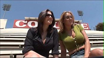 Busty beauties Austin Kincaid and Trina Michaels enjoy to