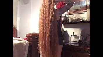 Hot long hair babe