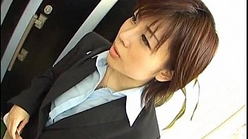 Yukino undresses office suit while sucking