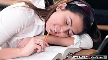 College babe fucked by her black teacher