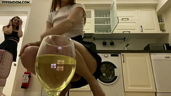 Double Pissing Female Domination and POV Humiliation, Spitting and Slave Orders