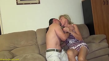 ugly 82 years old skinny grandma with saggy tits gets extreme rough big cock fucked by her horny stepson