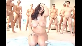 Gianna showered with Cum in Bukkake