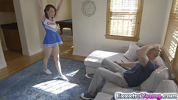 Petite Harley Ann Wolf seduces and fucks with her horny coach.