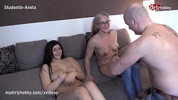 My Dirty Hobby - Shy amateur busty babe got tricked into her first threesome and creamed on his cock