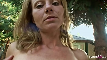 Skinny Redhead MILF with Mini Tits and Tight Pussy Rough Sex with Big Dick Guy