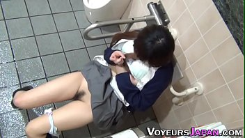 Uniformed asian chick rub