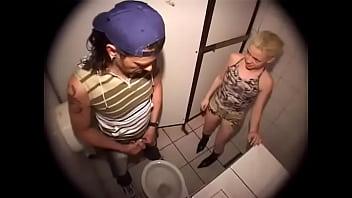 German kinky blonde in her favorite toilet