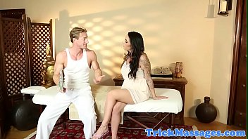 Bigtitted Massage Babe Doggystyled On Table