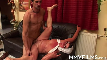 Trashy granny in glasses Ari getting fucked and glasses cumshoted by a horny young stud