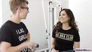 Brunette celebrity facesitted by her lesbian co worker