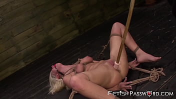 Submissive slut tied up and destroyed