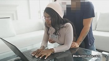 She doesn't minds taking a hard dick from behind while studying for her upcoming exams