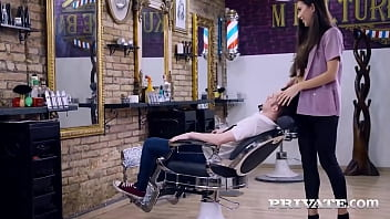 Beautiful cock sucking hairdresser Anya Krey mouth fucks a client's stiff dick at the salon & gives him her tight pink pussy to bang until he cums! Full Flick & 1000's More at Private.com!