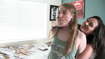 Cheating Girlfriend Is Fucked By StrapOn With Hand Over Mouth Humiliation