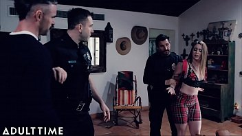 Delinquent Teen Gets Punished by Stepdad when Police Get to the House