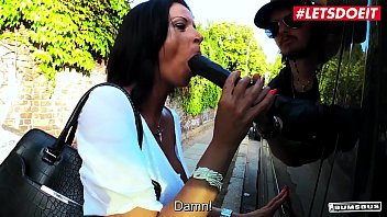 LETSDOEIT - Hot Big Ass Brunette Dacada Rides Cock On The Bus While People Are Passing By