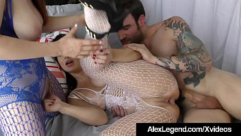 Fuck King Alex Legend Bangs Penny Pax & Lea Lexis in their cute mouths & warm wet pussies, in several positions, until he has to jet his jizz, all over their hot faces! Thumbnail