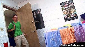 Teen College Students Enjoy Interracial Sex  in Dorm Room (cr7628)