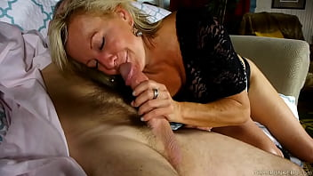 Horny MILF enjoys blowing and screwing for a facial cumshot