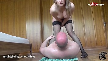 My DirtyHobby - Old guy receives a huge squirt on his face by hooker