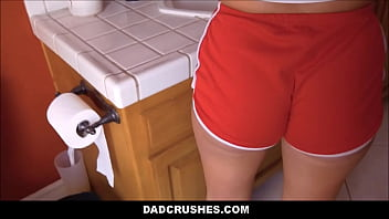 Young Blonde Stepdaughter Sees Her Daddys Dick