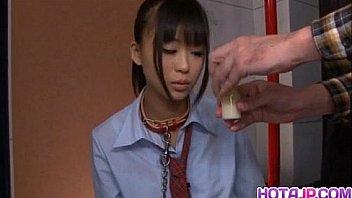 Chika Ishihara licks hard cock