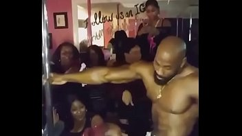 Ebony Male Stripper Gets His Cock Sucked
