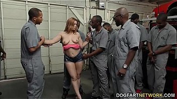 Watch Edyn Blair sucks horny black mechanics to pay the bill preview