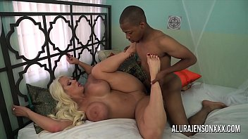Busty blonde pornstar uses her feet to make this big cock explode