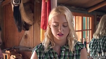 Blonde beauty Chloe Cherry tied up in her saloon by drifter Xander Corvus and then got anal and pussy pounded