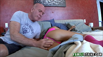 Young Petite Skinny Stepdaughter Trinity St Clair Fucked By Creepy Older Dad