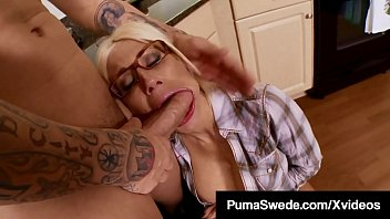 Busty Blonde Bombshell, Puma Swede, gets her horny pussy plowed by a hard cocked plumber who ends up fucking this Swedish Sex Bomb until he cums all over her! Full Video & More Puma @ PumaSwedeXXX.com Thumbnail