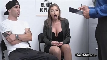 Shoplifting MILF punished hard at the back office
