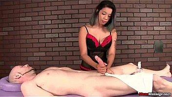 mm-Brunette Latina cock treatment