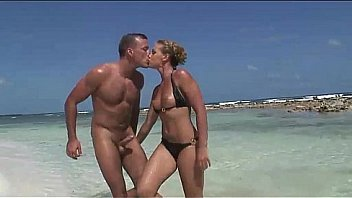 She's a blonde whore fucked doggystyle on the beach
