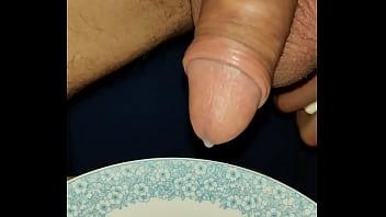 A lot of sperm from prostate stimulation